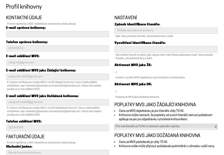 Profil knihovny